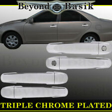 For 2003-2008 Toyota Corolla TRIPLE Chrome Door Handle Covers Overlays w/PSK