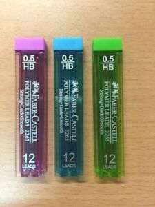1 x Pkt 12 Faber Castell Leads 0.5mm HB 12 Pack 10331