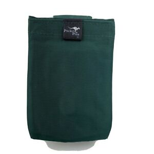 """Vintage The Pocket Plus Magnetic Pouch Green USA Made 4"""" x 6"""" Running Biking"""