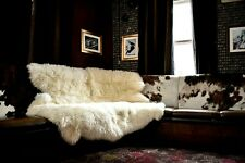 Sheepskin Rug Natural Sexto Soft,Thick & Shaggy Large 6 Pelt Sheepskin Rug