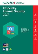 Kaspersky Internet Security 2017 3PC / 1Year / Antivirus / Download