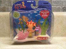 Littlest Pet Shop LPS #315 Seahorse Orange Shimmer Exclusive Target NEW