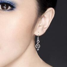 Hot Sale Jewelry Rhinestone Music Note Drop Earrings Crystal Dangle Accessories