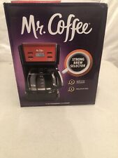 Mr. Coffee 12-Cup Programmable Coffee Maker, Red (USA Shipping)