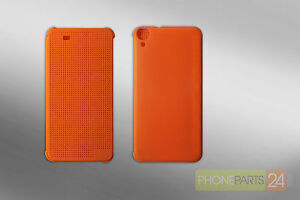 HTC Desire 820 D820t D820us D820ts Point View Case Housse de Protection Orange