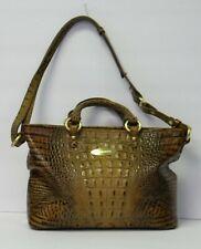 BRAHMIN Brown Alligator Satchel Bag