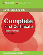 Complete First Certificate Teachers Book, Brook-Hart, Guy, Used; Good Book