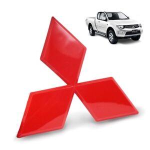 For Mitsubishi L200 Triton Pickup 2005 2008 12 Red Front Logo Emblem Trim