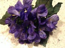 "Millinery Flower 1 3/4"" Violets Rich Purple Lot of 20 Bridal Wedding Hair Y100"