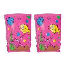 Kids Roll-On Float Bracciali Pink Fish nuoto per bambini piscina gonfiabile acqua