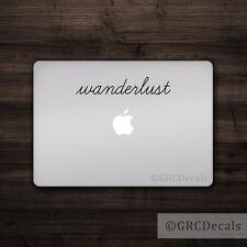 Wanderlust - Vinyl Decal Mac Apple Logo Laptop Sticker Macbook Decal Travel