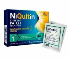 NiQuitin 21mg Clear 24 Hour 7 Patches Step 1 Stop Smoking 1 Week Kit Nicotine