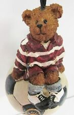 Boyds Holiday #257114 * Teddy Bear Soccer Player Ornament Brand New, Mint in Box