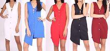 Unbranded V-Neck Patternless Mini Dresses for Women