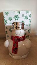 Slatkin & Co For Bath & Body Works ~ Large Christmas Snowman ~ Candle Luminary