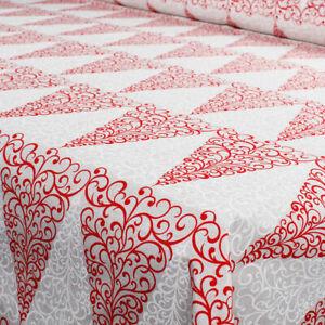 Tessuto al Metro Natale Cotone a Fantasia Natalizia Albero Rosso Bianco h.280 cm