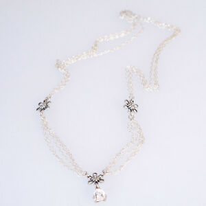 Natural White Topaz 2 ct Trillion Handmade Necklace Solid Sterling Silver 92.5