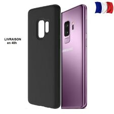 Samsung Galaxy S9 Coque protection silicone Noir mat