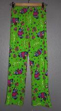 DISNEY womens/juniors green Eeyore Christmas Plush pajama sleep pants size XS