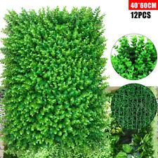 """12pcs Artificial Faux Leaf Privacy Grass Fence Panel Boxwood Mat 60x40cm 24""""x16"""""""