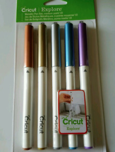 Cricut Explore Metallic Pen Set, Medium Point 1.0 - 5 Pens