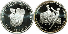 CONGO 1000 FRANCS 2001 KM#47   SILVER 0.999