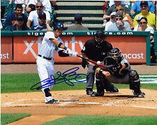 QUINTIN BERRY  DETROIT TIGERS    ACTION SIGNED 8x10