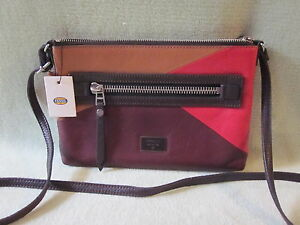 Fossil Dawson Multi Small Soft Leather Shoulder/Crossbody Bag Really Nice! NWT