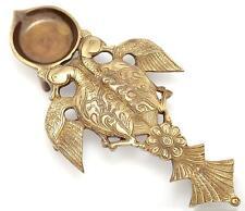 Twin Peacock Design Brass Pooja Spoon Hindu Religious Worship Showpiece
