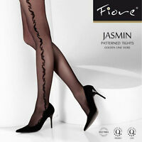 Fiore - Collant sexy à motif sur coté de la jambe référence Jasmin