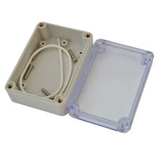 Clear Plastic Electronic Project Box Enclosure Instrument Case DIY 83*58*33mm
