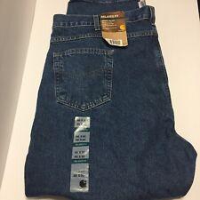 NWT Carhartt Mens 46x30 Relaxed-Fit Tapered-Leg Blue Jean Denim B17 Work Jean