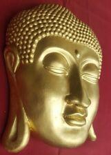 BUDDHA Maske aus wiederstandsfähiger Keramik Buddhakopf Meditation Buddhismus L