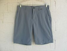 MENS HURLEY SHORTS SZ 33 NIKE DRI-FIT COLOR GRAY PRE OWNED