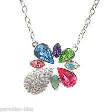 Collana da Donna Cristallo Swarovski Elements elegante Multicolore S05