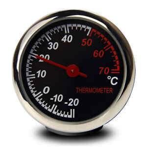 #X Steel Car Temperature Thermometer Meter Dashboard Table Ornament Decoration
