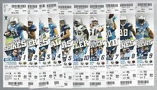 2012 NFL SAN DIEGO CHARGERS FULL UNUSED FOOTBALL TICKETS - ENTIRE HOME SEASON