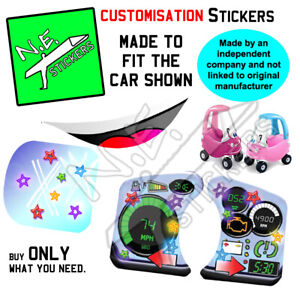 Replacement stickers SIZED TO FIT Little Tikes PRINCESS pink Cozy Coupe car