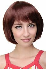 WIG ME UP perruque Sexy Bob queue de cheval Braun Or rouge-brun Cheveux 703-35