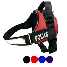 Large Dog Harness No Pull Outdoor Vest Removable Patch for Labrador Husky Collie