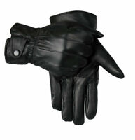 MEN MOBILE TOUCH 100% LEATHER GLOVES THERMAL LINED BLACK DRIVING WINTER GIFT