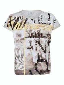 Olsen Top Size 12 BNWT Beige Lemon Print RRP £69 Now £30
