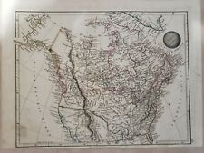 Original Copper plate Map of North America 1825