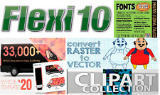 Flexisign Pro 10 Windows, Vehicle Templates, Clipart, Fonts, Vector Converter