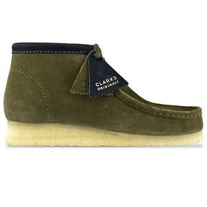 Clarks Originals - Wallabee Boot - Olive Interest - 26154740