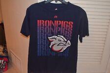 Lehigh Valley IRON PIGS youth XL t shirt minor league baseball Majestic bacon