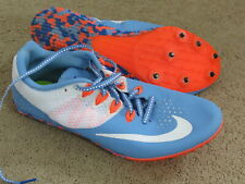 Euc Nike Racing Rival S blue + white track spikes womens 9.5