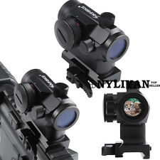5MOA Red/Green Dot Sight Airsoft Scope Quick Release 20mm Rail For Rifle Hunting