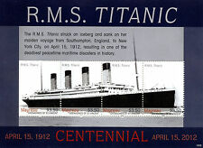 Mayreau Gren St Vincent 2013 MNH Titanic Centennial 4v M/S Ships Boats Stamps