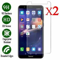 2X 9H Tempered Glass Screen Protector Film For Huawei Honor 6X 7 8X 8 9 10 Lite